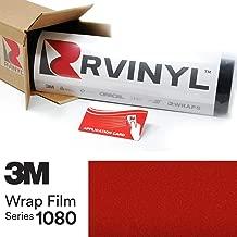 3M 1080 G363 Gloss Dragon FIRE RED 5ft x 1ft W/Application Card Vinyl Vehicle Car Wrap Film Sheet Roll