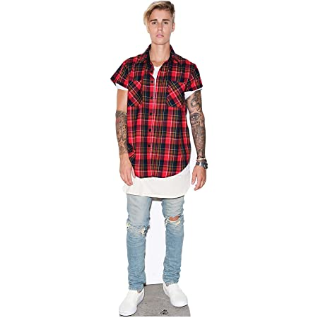 Recorte de cartón tamaño Real de Justin Bieber de Star Cutouts, Multicolor