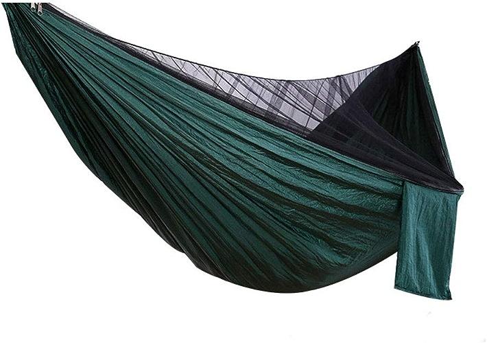 A-Anice Hamac de Camping léger avec moustiquaire hamac léger en Nylon de 772lb de Parachute léger pour hamac Porteur pour Le Jardin en Plein air Camping randonnée Sac à Dos Voyage