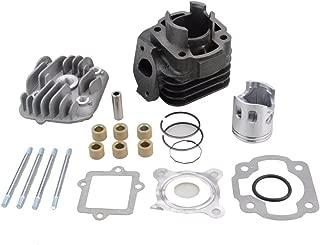 GOOFIT Cylinder Kit with 10mm Piston for Yamaha Jog Zuma Vino 2 Stroke 50cc Scooter Minarelli 1E40QMB Engine