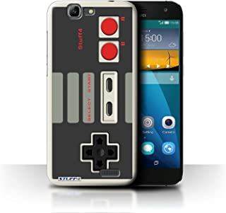 Phone Case for Huawei Ascend G7 Games Console Nintendo Classic Design Transparent Clear Ultra Slim Thin Hard Back Cover