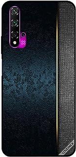 For Huawei Nova 5T Case Dark Green Leather Pattern