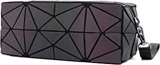 Travel Makeup bags Makeup Cosmetic Case cosmetic bag storage box gifts for women's , geometric holographic luminous wallet...
