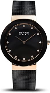 BERING Time 11435-166 Womens Ceramic Collection Watch with Mesh Band and Scratch Resistant Sapphire Crystal. Designed in Denmark.