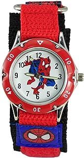 Kids Spider Man Waterproof Spiderman Watch Fast Wrap Strap Boys Girls Children Birthday  Watches (Red 1)