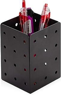 حامل قلم للمكتب، منظم حامل كوب القلم الرصاص المعدني مربع حامل الكأس، صندوق تخزين حامل القلم، منظم لوازم المكتب للمكتب والم...