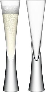 LSA Moya Clear Champagne Flute Pair 170ml, Pack de 2