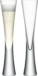 LSA International Moya Champagne Flute (2 Pack), 5.7 fl. oz., Clear