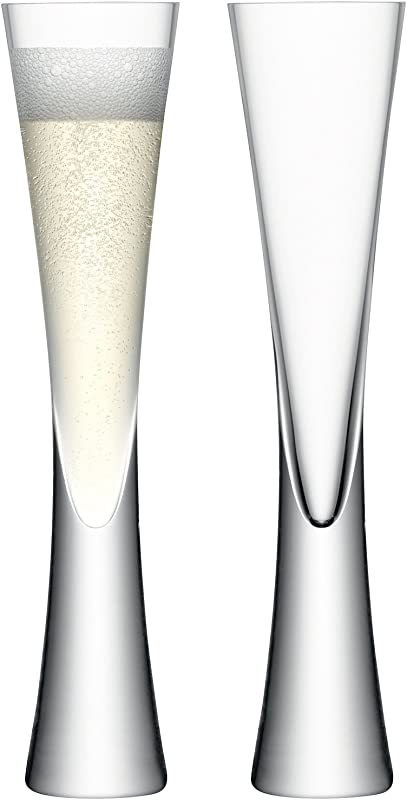 LSA International Moya Champagne Flute 2 Pack 5 7 Fl Oz Clear