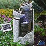 Granit Pills & Bowls Solar Garden Fountain