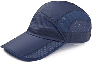 YXSDD Mesh Visor Hats, Male and Female Outdoor Baseball Cap, Mountaineering Riding Sun Screen UV Breathable Sports Hats (C...