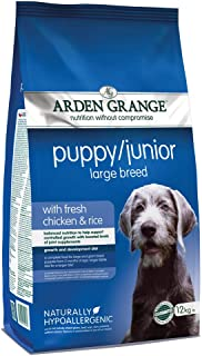 Arden Grange Puppy/Junior Dog Food Large Breed with Fresh Chicken and Rice, 12 kg