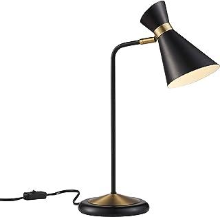 Versanora VN-L00054 Harper Lamp, Black/Antique Brass