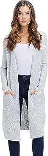 Womens Long Duster Cardigan Sweater - Fall Winter Rib Sleeve