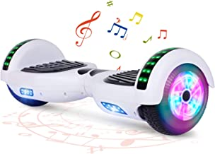 """FLYING-ANT Hoverboard with Bluetooth, Self Balancing Electric Scooter 6.5"""" Two-Wheel Hover Boards with LED Lights for Kids..."""