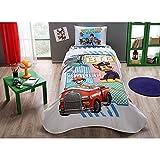 TAC 3-teilig Paw Patrol H&e Lizenzprodukt Cartoons Tagesdecke Decke (Pique) Set, 100prozent reine Baumwolle Luxus, Kinder Einzelbett Teenager Größe