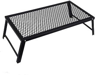 Keepjoy メッシュテーブル 焚き火テーブル キャンプ アウトドア テーブル アイアンテーブル フィールドラック 耐熱 折りたたみ 直火利用可能