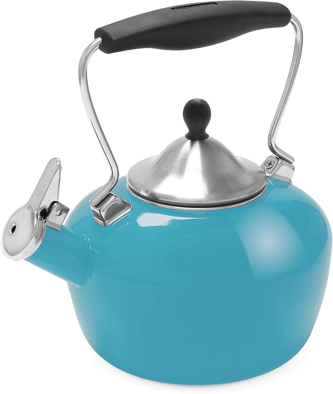 Chantal 最新 Catherine Enamel 直輸入品激安 on Steel Teakettle Sea quart 1.8 Blue