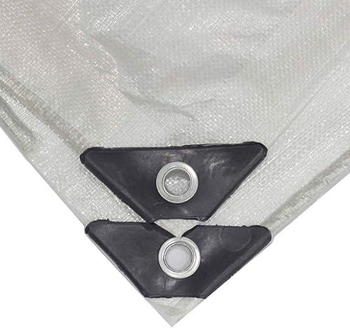 KYSZD-Baches Tente auvent Bache Transparent épais Tissu imperméable Imperméable Anti-age Crème Solaire Anti-UV Feuille de Plastique Serre Sports de Plein air Polyéthylène 180g   m2