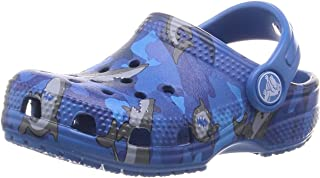 Crocs Unisex Kids' Classic Shark Clog Ps Leisure Flip Flops Sportwear for Children, Blue (