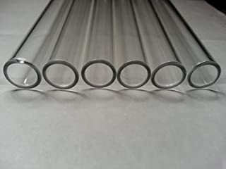 4 inch 6 Tubes 12mm OD Borosilicate Glass Blowing Tubing 2mm Thick Wall Clear Tube