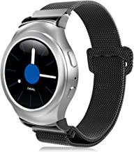 Band Compatible with Gear S2 SM-R720 / SM-R730, Stainless Steel Metal Mesh Smart Watch Replacement Wrist Strap Bracelet, Black