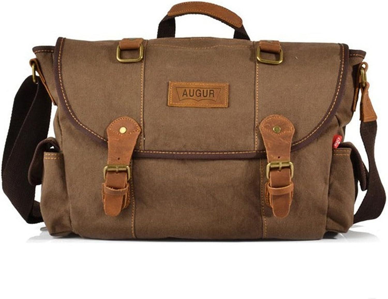 Sunbobo Einfache Retro Reißverschluss-Canvas-Reisetasche Schultertasche Messenger Bag Farbe  braun B07D3JXMMK