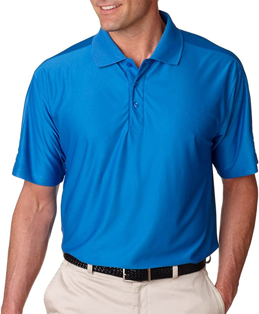 UltraClub Cool & Dry Men's T Elite Polo Shirt, Pacific Blue, XX-Large Tall