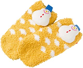 DDU, DDU Calcetín Bebé Espesamiento Calcetines de Navidad Cálida Para Niños Pequeños 17x7cm 1 Par Amarillo