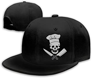 Waldeal Skull-Chef Cooking Skull Vintage Unisex Fashion Cotton Denim Baseball Cap