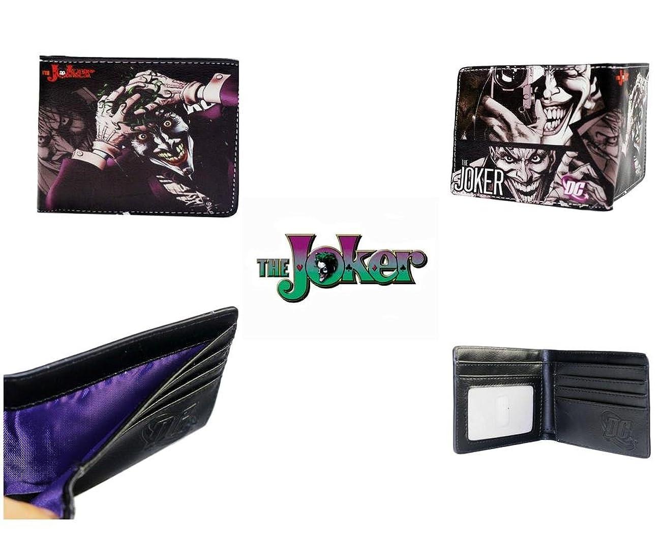 仕事努力配列DC Comics Batman The Joker二つ折りメンズBoys Wallet w /ギフトボックスby Athena