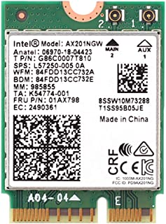 MQUPIN Intel Dual Band Wireless AX201NGW 2.4Gbps 802.11ax Wireless Intel AX201 WiFi Card Bluetooth 5.0 for Windows 10, 64-bit, Google Chrome OS, Linux(5.2 Kernel System Above)