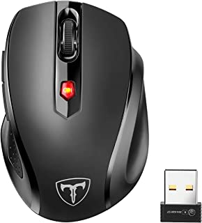 POLEYN Wireless Mouse for Laptop, Ergonomic Computer Mouse 2.4G with 5 Adjustable DPI Levels, 6 Buttons Cordless Mouse Wir...