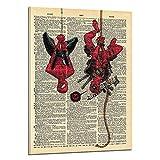 モダン キャンバス塗装 スパイダーマンデッドプールポスターコンピュータインクジェットキャンバス絵画家の装飾フレームレス油絵 50*75cm
