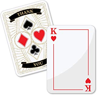 Las Vegas - Shaped Thank You Cards - Casino Party Thank You Note Cards with Envelopes - Set of 12