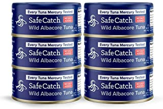 Safe Catch Wild Albacore Tuna No Salt Added, 6 Piece The Only Brand To Test Every Fish for Mercury