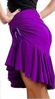 Reisam Women Latin Dance Dress Training Dress Ballroom Costume Dance Practice Skirt