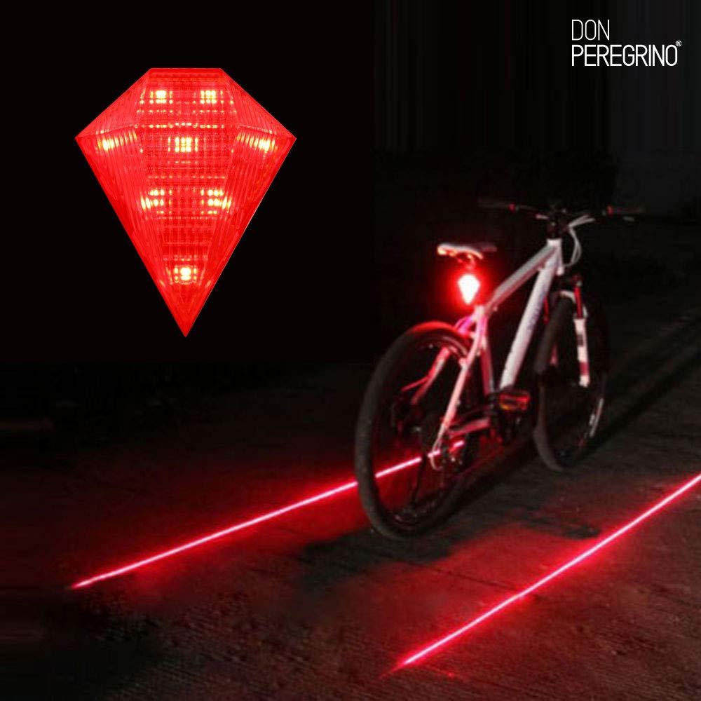 DONPEREGRINO R1 - Led Luz Trasera Bici Potente con Carril Virtual ...