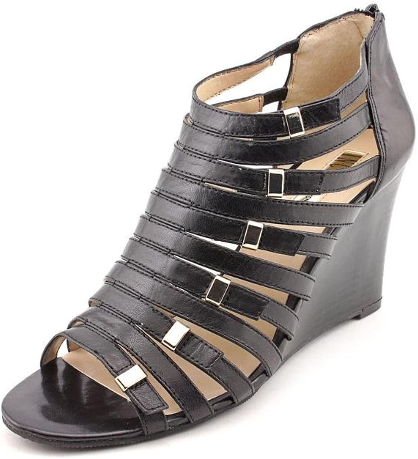 I. Dionne Wedge Sandal - Black, 5.5 M