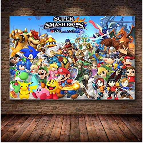 WDQFANGYI Classic game poster Canvas painting on HD Canvas Wall art poster pictures Living room bedroom home decoration 50X70CM (FLL4932)