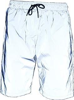 LZLRUN 3M Reflective Shorts Pants Men Fluorescent Trousers Casual Night Jogger