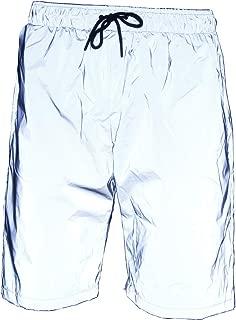 LZLRUN Reflective Shorts Pants Men Fluorescent Trousers Casual Night Jogger