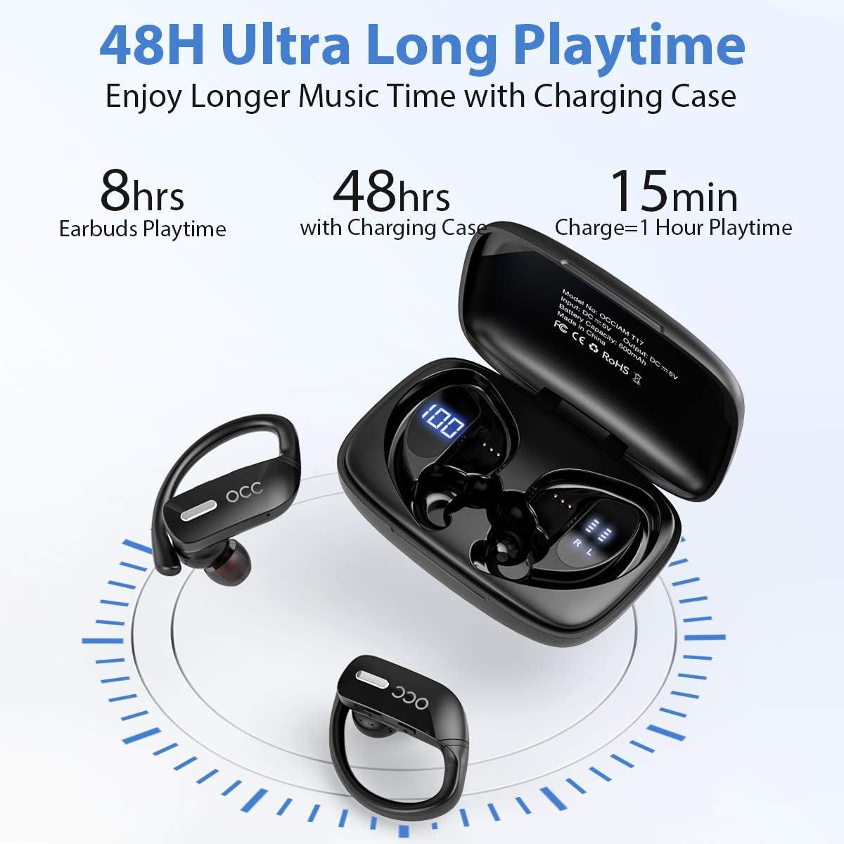 Bluetooth Kopfhrer Occiam 48H kabellose kopfhrer TWS Deep Bass ...
