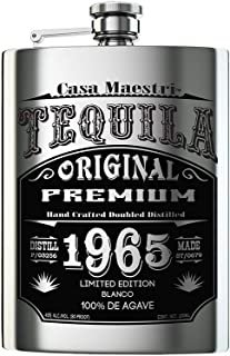 Flask Tequila Blanco 750ml 100% Agave