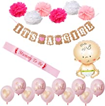 Baby Shower Decorations Baby Shower & It's A Girl Garland Bunting Banner
