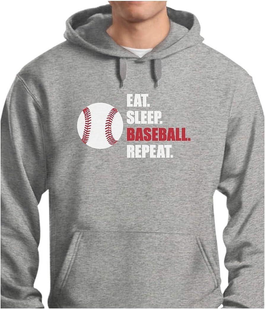 Eat Free 35% OFF shipping on posting reviews Sleep Baseball Repeat Sweatshirt for Gift Fans Hood