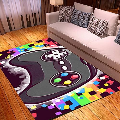 Alfombras Gaming Suelo Habitacion Grandes Pequeñas Juvenil Chico Infantiles Alfombras Gamer Videojuegos Modernas Grande Alfombras Salon Baño Antideslizante Lavables Vinilo (colores,100x150 cm)