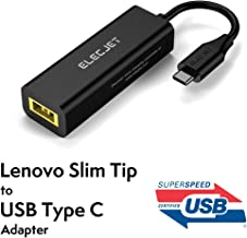 ELECJET Adaptateur Lenovo Slim Tip vers USB C AnyWatt SQ | Convertir Carré ThinkPad Square | Compatible avec MacBook Pro/Laptop/Switch [USB-If Certifié] USB-PD Type C Convertisseur Câble de Téléphone