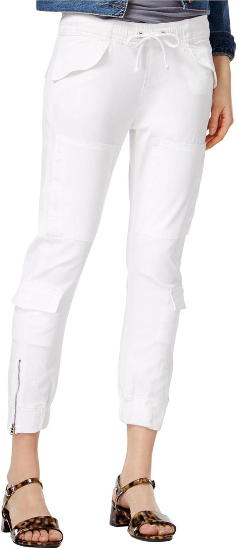 HUDSON Womens Flight Casual Cargo Pants, White, 29