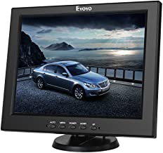 Eyoyo 12 Inch HDMI Monitor with BNC VGA AV HDMI Input 800x600 Portable 4:3 TFT LCD Mini HD Color Screen with Bulit-in Speaker